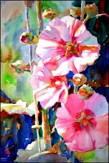 Summer Symphony-watercolor by artist Ken Hosmer