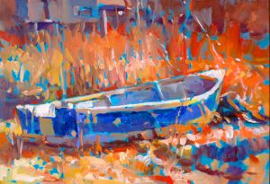 Gone Fishing-oil painting by Ken Hosmer